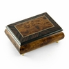 Alluring 30 Note Neutral Tone Modern Music Box with Rosewood Frame