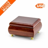 Alluring Hi Gloss Rosewood Custom USB Sound Module Music Box