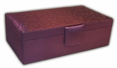 Amazing Amethyst Jewelry Box with Jigsaw Quilted Lid