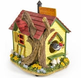 Amazing Colorful Wood Peckers Wrecking Company Musical Bird House