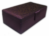 Amethyst Double Layer Rectangular Jewelry Box