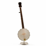 An Amazing Miniature Replica of a Good'ol Fashion Banjo With Stand & Case