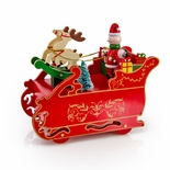 Animated Giant Santa�s Sleigh with Reindeers Musical Holiday keepsake
