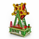 Animated Rotating Yellow Musical Ferris Wheel with Christmas Characters