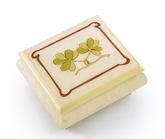 Astonishing Hand Inlay of an Irish Celtic Shamrock Sorrento Musical Box