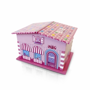 Awesome Pink Candy Decorated Playhouse with Spinning Ballerina Music Jewelry Box