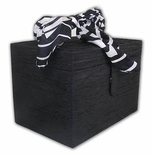 Beautiful Black And White Ribbon Spacious Jewelry Box