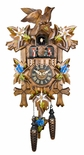 Black Forest 1 Day Chalet Style Musical Cuckoo Clock with Hand Painted Carvings