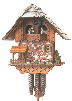 """Black Forest VDS Certified 1 Day Musical Cuckoo Clock with Beer Drinkers by Rombach and Haas (Extra 20% Off Sale Price - Code """"romba20"""")"""