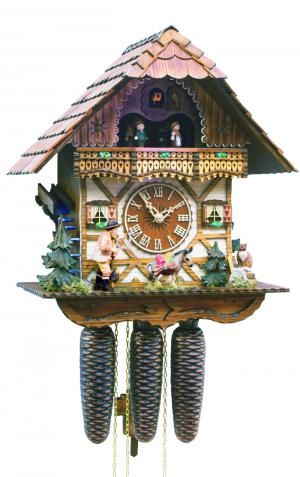 "Black Forest Forest VDS Certified 8 Day Musical Cuckoo Clock with Hand Carved Herdsman with Whip by Rombach and Haas (Extra 20% Off Sale Price - Code ""romba2"")"