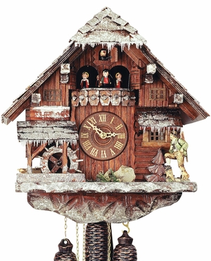 "Black ForestForest VDS Certified 8 Day Musical Cuckoo Clock with Hand Carved Winter Landscape by Rombach and Haas (Extra 20% Off Sale Price - Code ""romba20"")"