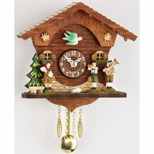 Black Forest Quartz Chalet Style Cuckoo Clock with Band