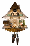 Black Forest Quartz Chalet Style Cuckoo Clock with Girl on Rocking Horse
