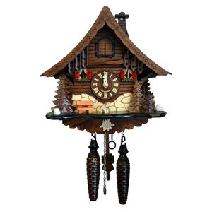 Black Forest Quartz Chalet Style Cuckoo Clock with Wood Chopper