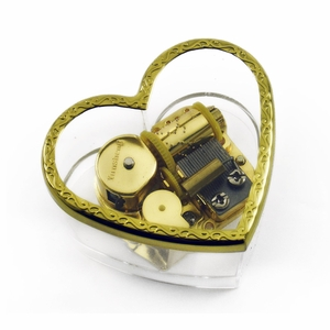Charming Heart Shaped Acrylic Photo Musical Paper weight