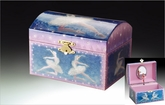 Childrens Blue Ballerina Musical Jewelry Box With Spinning Ballerina