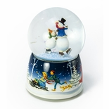 Christmas Skating Snowmen Musical Animated Snow Globe by Twinkle Water globes