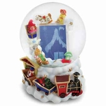 Christmas Train Picture Frame Musical Water / Snow Globe By Twinkle, Inc.