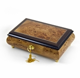 Classic Style  30 Note light Burl-Elm with Rosewood Border Musical Jewelry Box