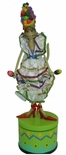 "Colorful Musical  Caribbean Cat Figurine with Maracas from the ""Catwalk"" Collection by Westland"