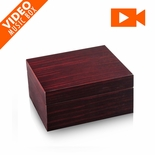 Contemporary 30 Note Hi Gloss Macassar Finish LCD Video Jewelry Box