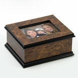 "Contemporary 36 Note Classic Style 3""x 5"" Photo Frame Music Jewelry Box"
