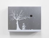 Contemporary Christmas Theme Modern Cuckoo Clock with Silver Wall with White Tree - C�C�R�K� by Progetti