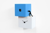 Contemporary Cuckoo Clock Inspired by the Labor of Man - Strong 2 by Progetti