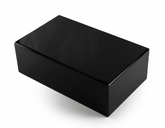 Contemporary Dyed Black Carbalho Classic Style 3 Part 72 Note Reuge Music Box