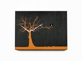 Contemporary Modern Cuckoo Clock with Black Wall with Orange Tree - C�C�R�K� by Progetti