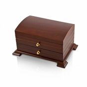 Contemporary Wood Tone Ballerina Musical Jewelry Box