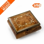 Custom Sound Module Digital Handcrafted Classic Inlay Music Box