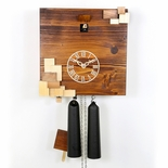 "Natural Wood Tone VDS Certified 8 Day Modern Romba Art Cuckoo Clock by Rombach and Haas (Extra 20% Off Sale Price - Code ""romba20"")"