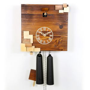 """Natural Wood Tone VDS Certified 8 Day Modern Romba Art Cuckoo Clock by Rombach and Haas (Extra 20% Off Sale Price - Code """"romba20"""")"""