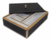Dark Brown Jewelry Box With Cover