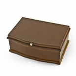 Dark Wood Tone 30 Note Ballerina Musical Jewelry Box with Pull Out Tray