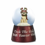 Deck the Halls with Bowzer Holly Miniature Musical Waterglobe