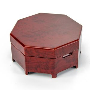 Enchanting Octagonal Zen Inspired Classic Toned Musical Jewelry Box