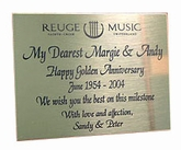 Engraved Plaque without a music box, separately