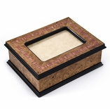 Exquisite Hand-Made 30 Note Contemporary Italian 4 x 6 Photo Frame Musical Jewelry Box