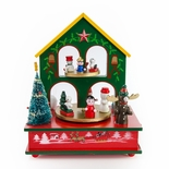 Festive Christmas scene With Jolly Friends Musical holiday Keepsake
