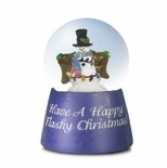 Flashy Christmas Snowman Miniature Musical Snow globe
