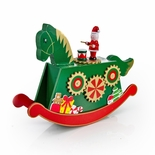 Giant Wooden Christmas Rocking Horse with Drummer Musical Keepsake
