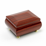 Gorgeous 18 Note Hi-Gloss Zebra Wood Finish Musical Jewelry Box