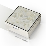 Gorgeous 30 Note Mother of Pearl with Silver Base Musical Keepsake