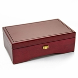 Gorgeous Minimal Design Swiss 72 Note Cherry Musical Jewelry Box