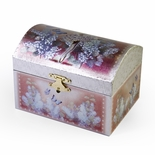 Gorgeous Trunk Shaped Children�s Pink Spinning Ballerina Musical Jewelry Box