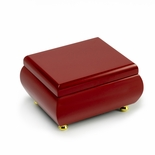 Gorgeous Venetian Red Musical Keepsake Jewelry Box