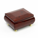 Gorgeous Wood Tone Classic Beveled Top Music Jewelry Box