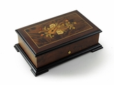 Grand Natural Walnut Tone 72 Note Orpheus Musical Theme Music Box
